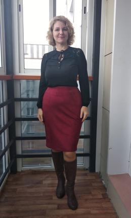 Фото. Замшевая юбка.  Автор работы - Муми