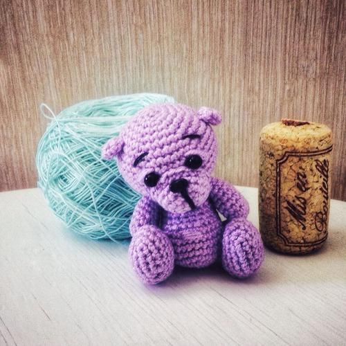 Фото. Амигуруми-медвежонок - малышка Лила.   Автор работы - Юлдуз