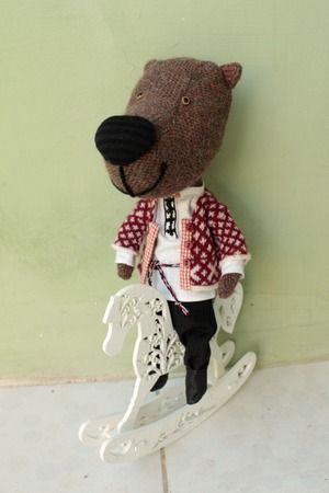 Фото. Игрушка Медведь.   Автор работы - олЁна и ежик