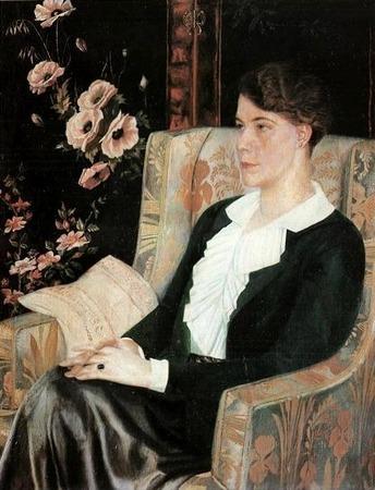 """Фото. П. Н. Филонов """"Портрет Е. Н. Глебовой"""", 1915 г."""