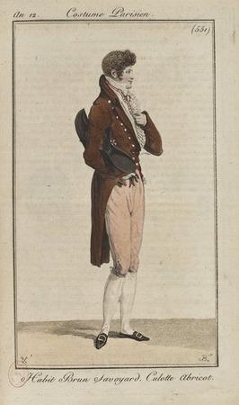 "Фото. Мужской костюм. Журнал ""Costume Parisien"", 1808 г."