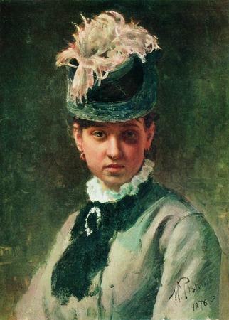 """Фото. Илья Репин """"Портрет В.А.Репиной, жены художника"""", 1876 г."""