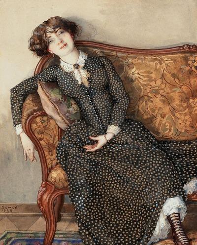 "Фото. Константин Сомов "" Сны молодой женщины"",  1928 г."