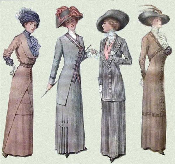 Фото. Женская мода 1900-1910 гг.