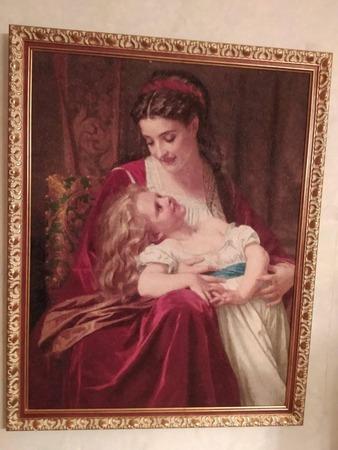 """Фото. Вышитая картина  """"Материнская любовь"""".  Автор работы - Mimmozza"""