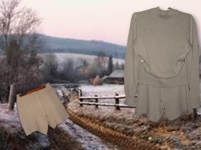 Фото. Спортивный костюм - джемпер и шортики.   Автор работы - Lysina