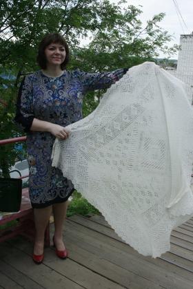 Фото. Оренбургский платок. Автор работы - L_Svetlana