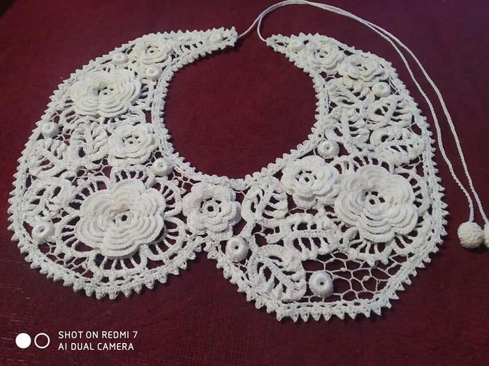 Фото. Воротничок в технике ирландское кружево. Автор работы - olga0000