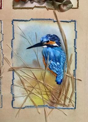 Фото. Птица счастья, вышивка лентами.  Автор работы - Танаис