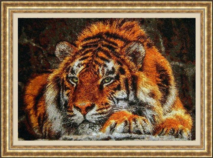 """Фото. """"Тигр"""". Работа по дизайну Олеси-Alisyonok80. Тигр как живой.  Автор работы - lubasik34"""