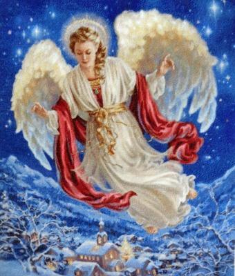 "Фото. ""Ангел рождества"".  Автор работы - мама Ната"