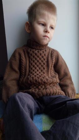 Фото. Свитер для сына из мериноса Cashwool 1500/100 в 7 нитей.  Автор работы - Юлёна64
