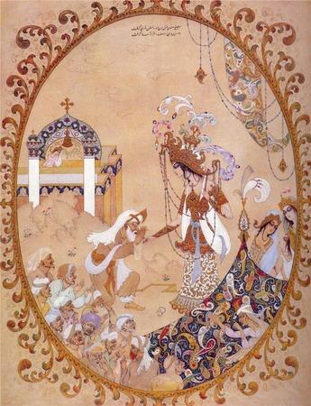 Фото. Старинная персидская книжная миниатюра.