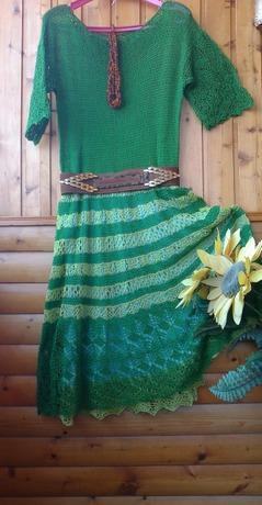 Фото. Платье из остатков пряжи. Автор работы - Nikita 13