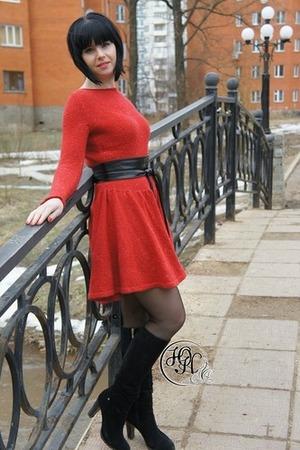 Фото. Всем известное платье Дали,связаны из твида минотауро. Автор работы - Yuli83