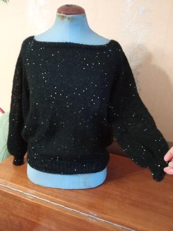 Фото. Пуловер из мохера с пайетками.  Автор работы - wildwoman