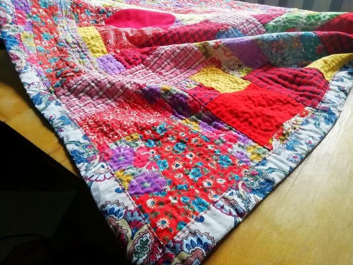 Фото. Одеяло в технике боро. Автор работы - Гостья издалека