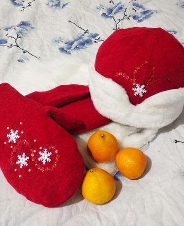 Фото. Тулуп, борода, шапка и рукавицы - главные дедморозовы аксессуары.   Автор работы - Муми