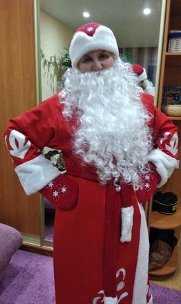 Фото. Главный костюм новогоднего праздника - Дедушка Мороз.  Автор работы - Муми