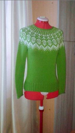 Фото. Жаккардовый свитер. Автор работы - Христофоровна