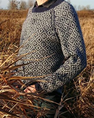 Фото. Жаккардовый джемпер для мужа.  Автор работы - dortik