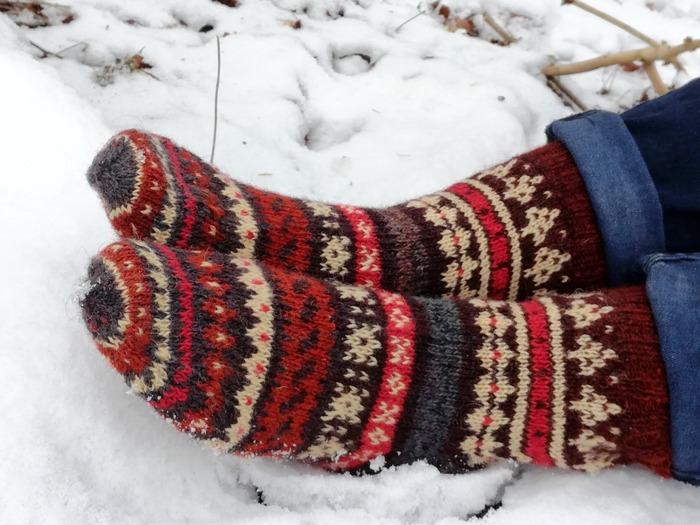 Фото. Жаккардовые носки.  Автор работы - Тьюлип