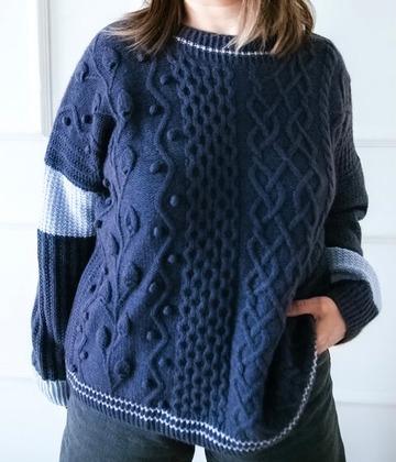 Фото. Свитер #luxury_sweater_girman по описанию Юлии Гирман. Пряжа супер як Натурал Фентези. Автор работы - Single