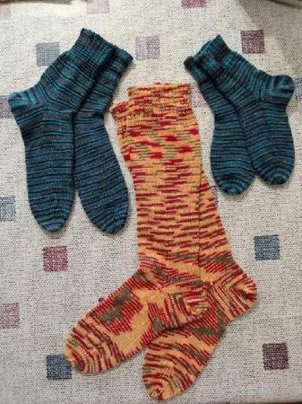 Фото. Носочки, машинное вязание. Автор работы - (Елена)