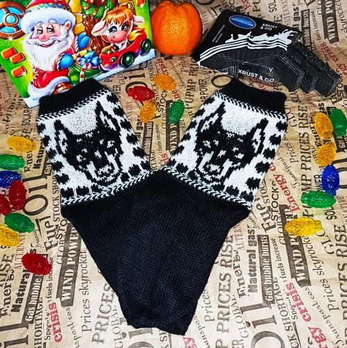 Фото. Носочки в подарок любительнице доберманов.  Автор работы - НатТусся