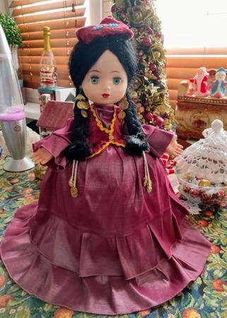 Фото. Платье для куклы на чайник. Автор работы - Водный мир