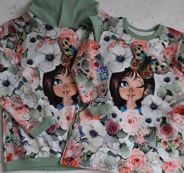 Фото. Для сестричек. Толстовка и платье из футера. Автор работы - Elena51