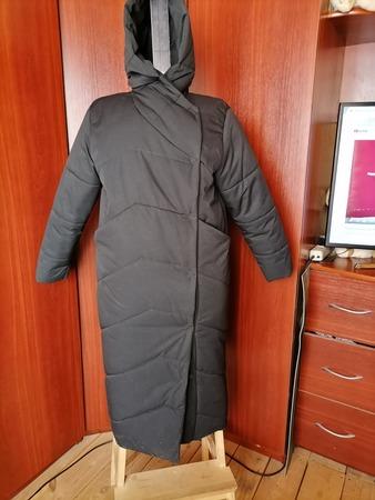 Фото. Зимнее стеганое пальто.  Автор работы - Юля Мячик