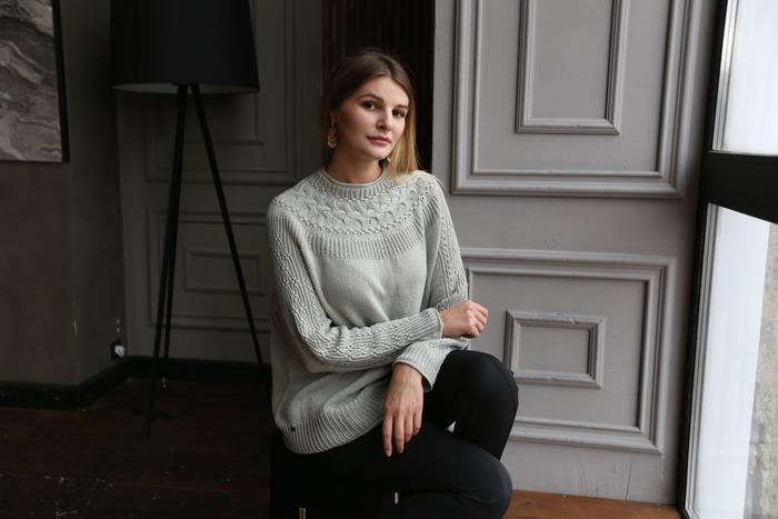 Фото. Свитер-оверсайз  Bright Sweater.   Автор работы - Oseny