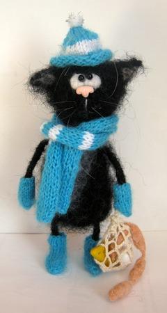 Фото. Кот с авоськой. идея  из интернета.   Автор работы - Веснат