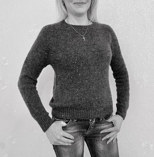 Фото. Пуловер Аврора от Наташи Аксеновой.  Автор работы - свч