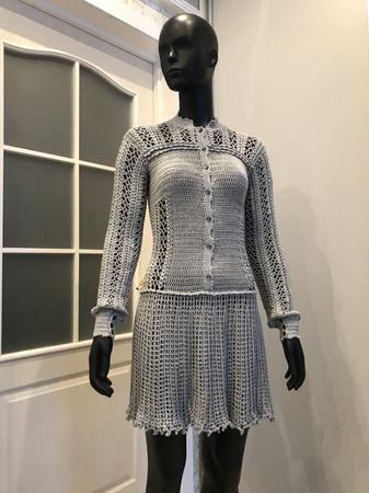 Фото. Вязаное платье.  Автор работы - Натало4ка
