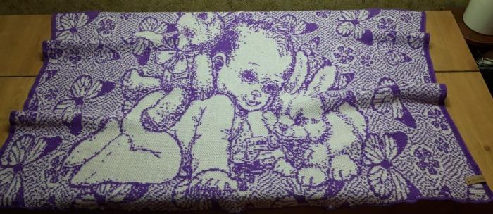 Фото. Детский пледик, машинное вязание.  Автор работы - Vera1313