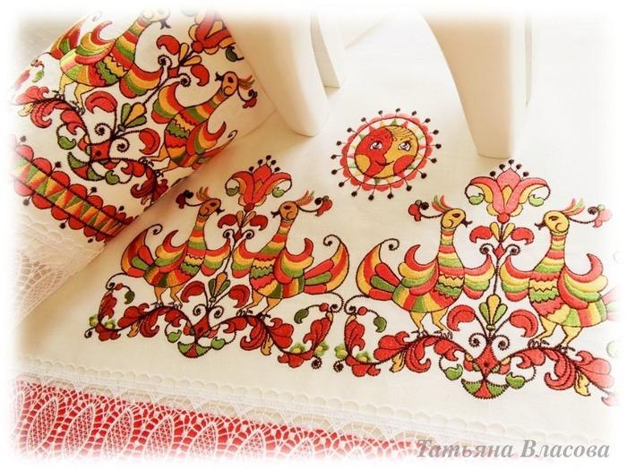 Фото. Народные мотивы, машинная вышивка. Автор работы - Anfia