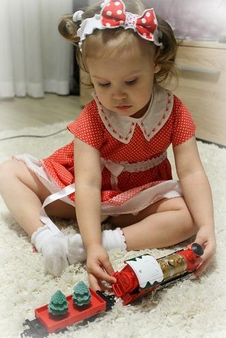 Фото. Очаровательное платьице из ситца. Автор работы - cvetok1977 .