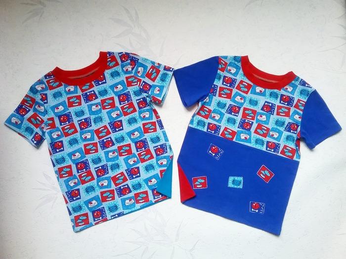 Фото. Две футболки из остатков внуку. Автор работы - Lyudmila_So