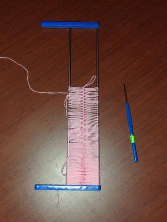Вязание на вилке-2