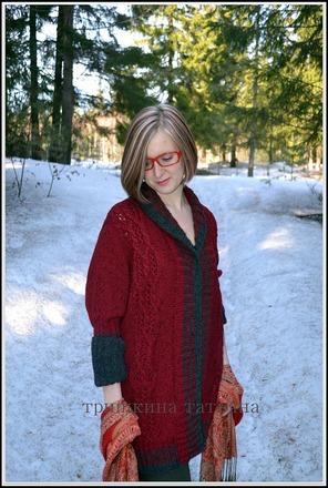 """Фото. Кардиган """"Spring Blues"""". Пряжа Нако Superlambs Special Tweed, 50% шерсть, 50% акрил. Автор работы - TriTan"""