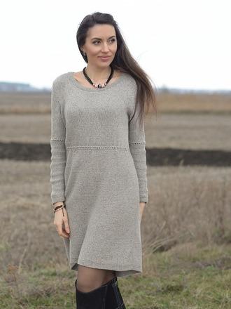 Фото. Платье Maiden.Пряжа - бобинный кашемировый твид с шелком. Автор работы - mazepyla