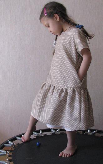 Фото. Платье из бязи, подклад отделан кружевом. Автор работы - msTayga