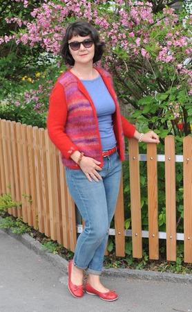 Фото. Двухсторонний жакет: в красном цвете!  Автор работы - Virina1