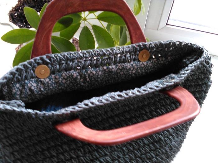 Фото. Вязаная сумка  из сизаля. Автор работы - Luduchka