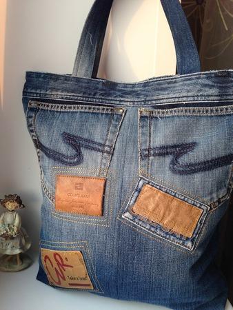 Фото. Сумки из старых джинсов.  Автор работы - natali2222