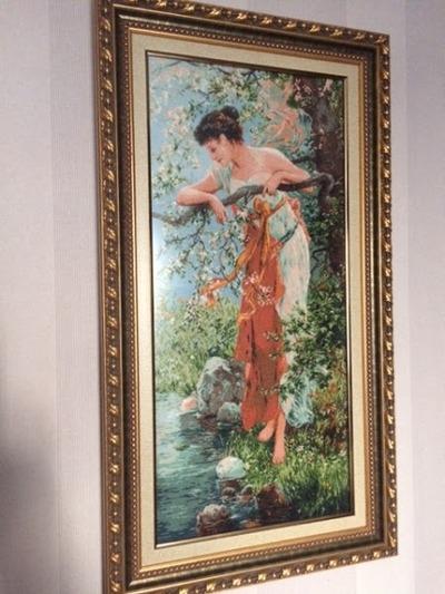 """Фото. Вышитая картина """"Очарование весны"""". Автор работы - Праймериз Леди"""