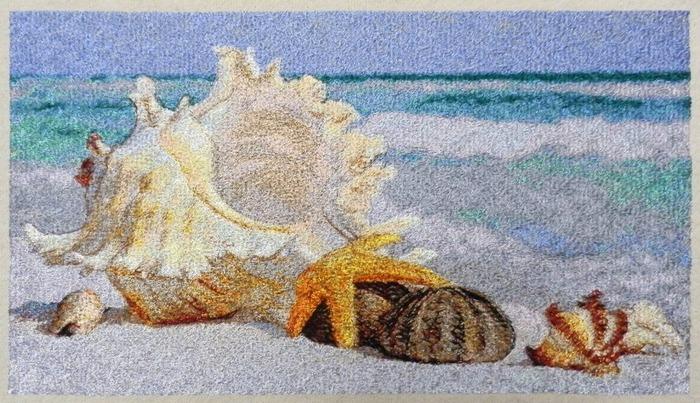 Фото. Очень хочется на море.... Машинная вышивка. Автор работы - Skarapey