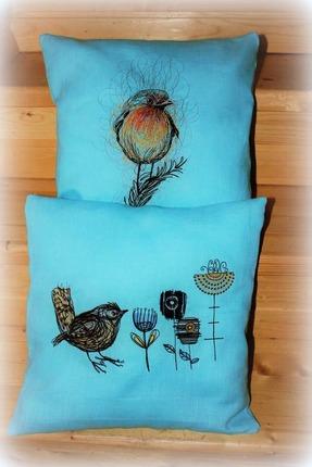 Фото. Новые подушки. Дизайн - Varan. Машинная вышивка. Автор работы - Elena455